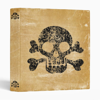 Worn Skull and Crossbones Binder