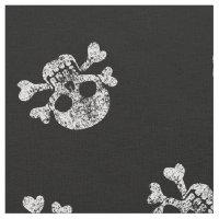 Worn Skull And Crossbones Fabric