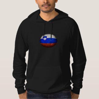 Worn Slovenian Flag Football Soccer Ball Hooded Pullovers
