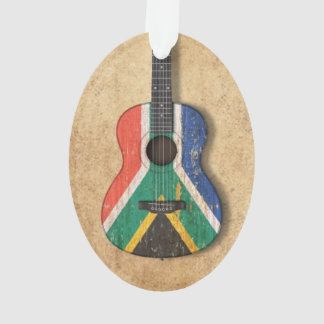 Worn South African Flag Acoustic Guitar