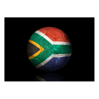 Worn South African Flag Football Soccer Ball Business Card Templates