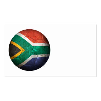 Worn South African Flag Football Soccer Ball Business Card Template