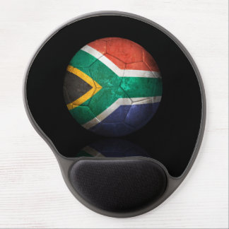 Worn South African Flag Football Soccer Ball Gel Mouse Pad