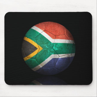 Worn South African Flag Football Soccer Ball Mouse Pads