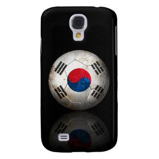 Worn South Korean Flag Football Soccer Ball Galaxy S4 Cases