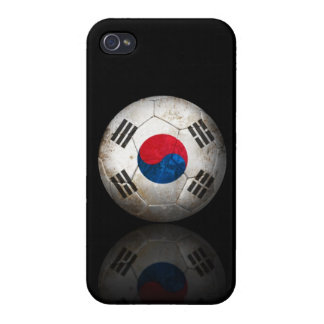 Worn South Korean Flag Football Soccer Ball iPhone 4/4S Cases