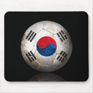 Worn South Korean Flag Football Soccer Ball Mouse Pad