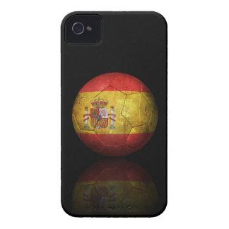 Worn Spanish Flag Football Soccer Ball iPhone 4 Case-Mate Cases