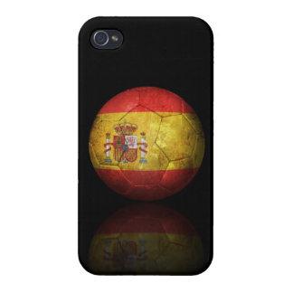 Worn Spanish Flag Football Soccer Ball iPhone 4/4S Cases