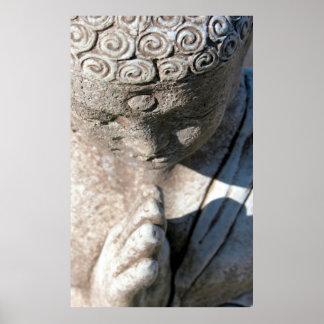 Worn Stone Buddha Poster
