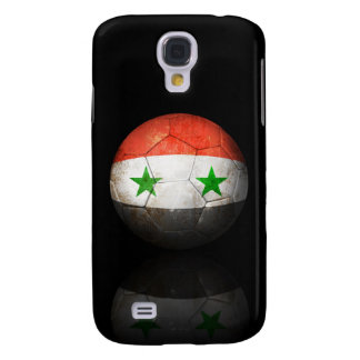 Worn Syrian Flag Football Soccer Ball Galaxy S4 Covers
