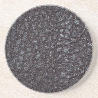 Worn Textured Leather Drink Coaster