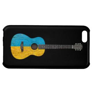 Worn Ukrainian Flag Acoustic Guitar, black Case For iPhone 5C