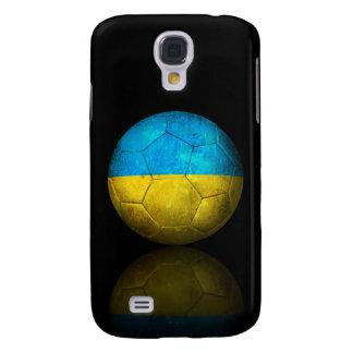 Worn Ukrainian Flag Football Soccer Ball Samsung Galaxy S4 Cases
