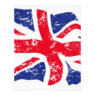 Worn United Kingdom Flag Letterhead