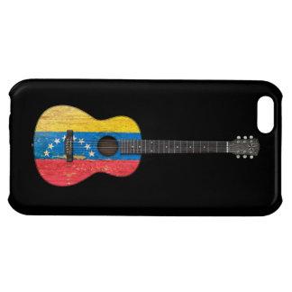 Worn Venezuelan Flag Acoustic Guitar, black Case For iPhone 5C