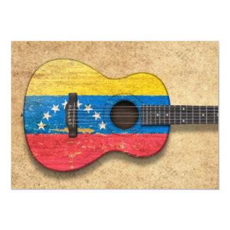Worn Venezuelan Flag Acoustic Guitar Announcement