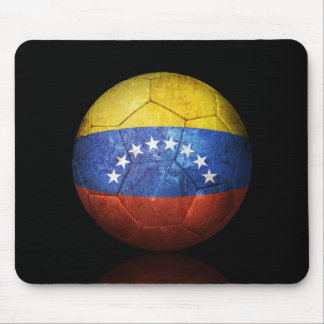 Worn Venezuelan Flag Football Soccer Ball Mouse Pad