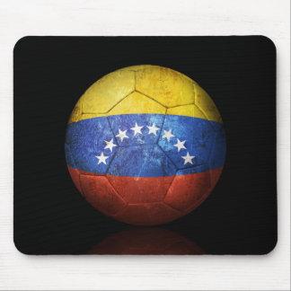 Worn Venezuelan Flag Football Soccer Ball Mouse Pad