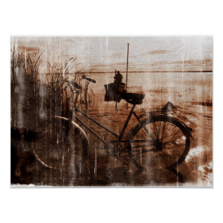 Worn Vintage Bicycle Photograph Poster