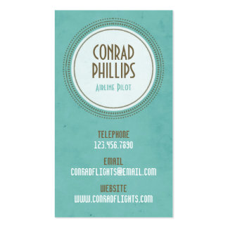 Worn Vintage Circle Graphic - Style 1 Business Card Template