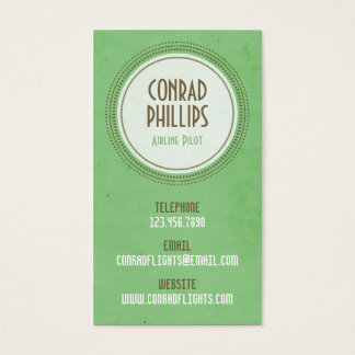 Worn Vintage Circle Graphic - Style 2 Business Card