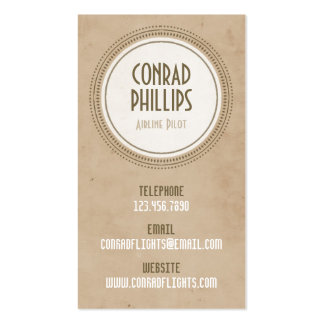Worn Vintage Circle Graphic - Style 3 Double-Sided Standard Business Cards (Pack Of 100)