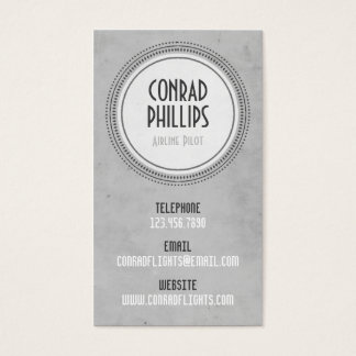 Worn Vintage Circle Graphic - Style 6 Business Card