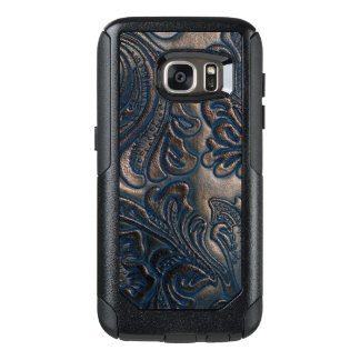 Worn Vintage Embossed Brown Leather Design OtterBox Samsung Galaxy S7 Case