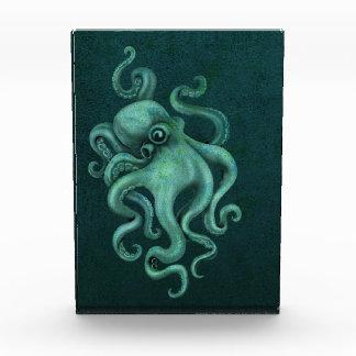 Worn Vintage Octopus Illustration - Blue Awards
