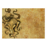 Worn Vintage Octopus Illustration Business Card Templates