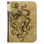 Worn Vintage Octopus Illustration Kindle Folio Cases