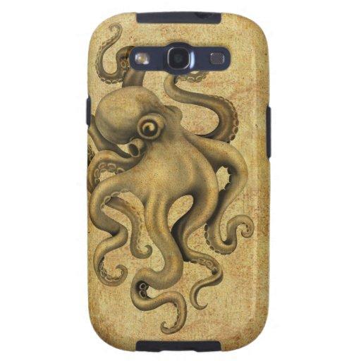 Worn Vintage Octopus Illustration Samsung Galaxy SIII Covers