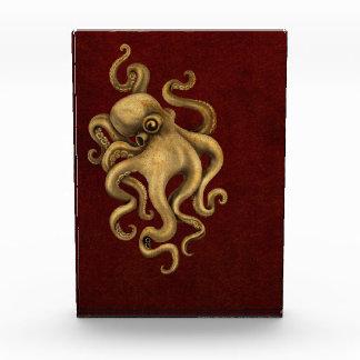 Worn Vintage Octopus Illustration on Red Awards