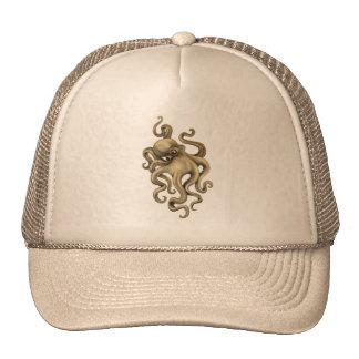 Worn Vintage Octopus Illustration Trucker Hat