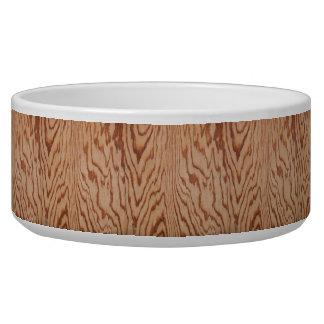 Worn wood grain dog water bowls