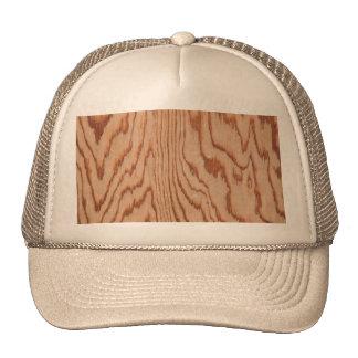 Worn wood grain trucker hat