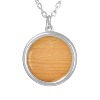 Worn Wood Silver Plated Necklace
