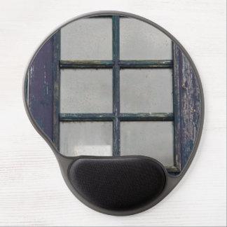 Worn wooden window gel mouse pad
