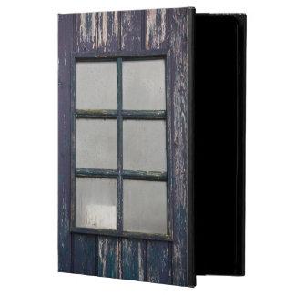 Worn wooden window case for iPad air