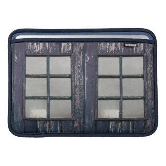 Worn wooden window sleeves for MacBook air