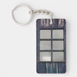 Worn wooden window keychain