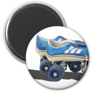 WornTennisShoeRollerSkates050915 2 Inch Round Magnet