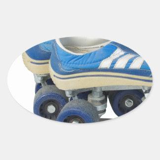 WornTennisShoeRollerSkates050915 Oval Sticker