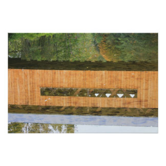 Worral Covered Bridge Vermont Reflection Print