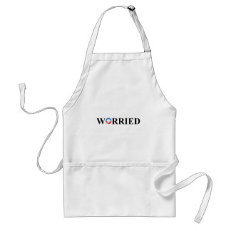 WORRIED ADULT APRON