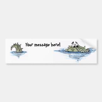 Worried Crocodile Bumpersticker Bumper Sticker