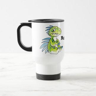 Worried Dino Travel Mug