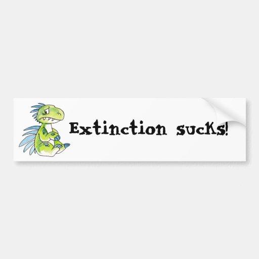 Worried Dinosaur Bumper Sticker