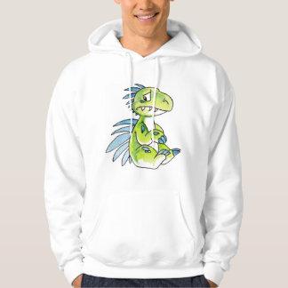 Worried Dinosaur Hoodie
